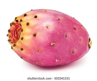 Red ripe opuntia isolated on white background with clipping path - Shutterstock ID 503341531