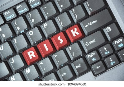 Red risk key on keyboard