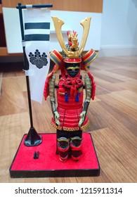 Red robot model warior in Sankamphaeng