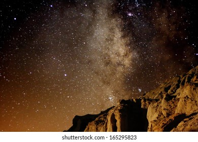 Red Rock Canyon 01 Milky Way Galaxy Mojave Desert California USA