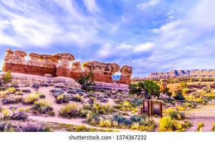 Red rock canyon desert landscape. Sandstone mountains in red rock canyon desert. Red rock canyon desert sandstones landscape. Red rock canyon desert sandstone mountains