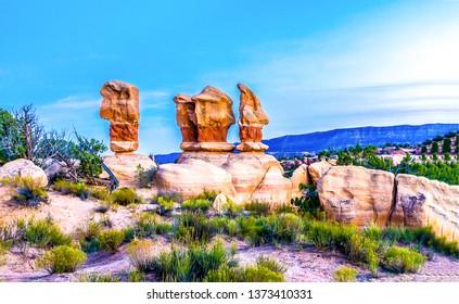 Red rock canyon desert sandstones landscape. Sandstone red rock canyon scene. Red rock canyon sandstones view. Red rock canyon sandstones