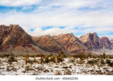 Red Rock Canyon Landscape in the Wintertime