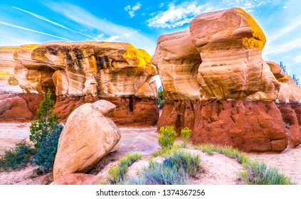 Red rock canyon sandstone mountains. Sandstone mountains in red rock canyon desert. Red rock canyon desert sandstones. Red rock canyon sandstone mountains