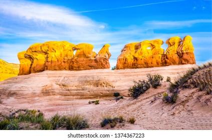 Red rock canyon sandstones panorama. Sandstones in red rock canyon desert view. Red rock canyon sandstones. Red rock canyon sandstone mountains