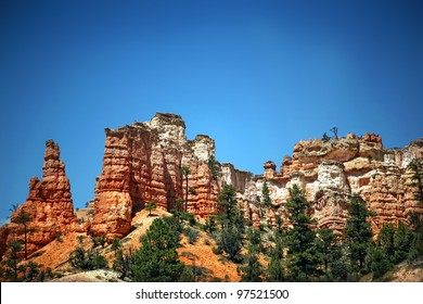 Red rock canyons outside Bryce Canyon National Park in Southern Utah