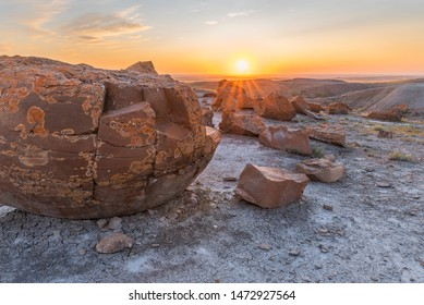 Red Rock Coulee near the towns of Orion and Seven Persons in Alberta, Canada