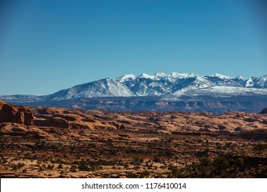 Red Rock Desert Landscape Of Utah In The Iconic American Southwest
