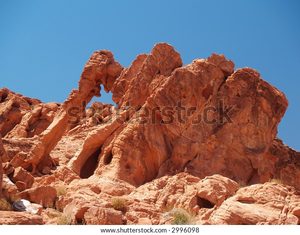 Red rock formations in the Valley of Fire