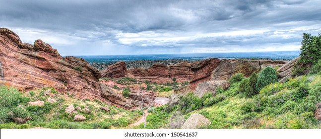 The Red Rocks Amphitheater landscape formations  in Denver Colorado