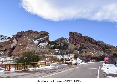 Red Rocks Amphitheater and scenics of the park, Morrison County, Colorado, USA