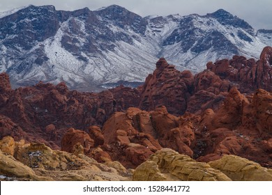 Red rocks landscape in Valley of Fire State Park in Nevada USA