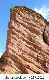 Red Rocks near Denver, Colorado at the foothills of the Rocky Mountains