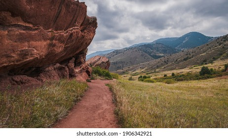 Red Rocks Park and Amphitheatre in Jefferson County, Colorado. Walking Trail in Autumn of September 2017.