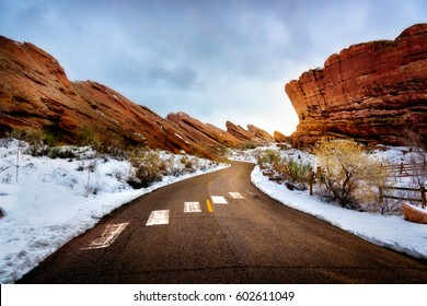 Red Rocks Park during Winter