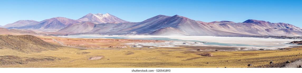 Red rocks Piedras Rojas, Atacama desert, Chile