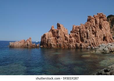red rocks Sardinia italy
