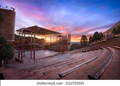 Red Rocks at Sunrise, near Denver Colorado