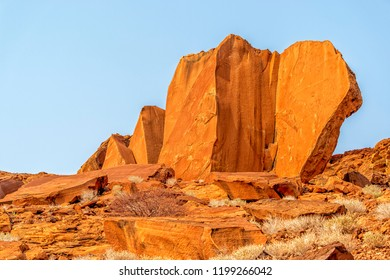 The red rocks in Twyfelfontein, Namibia.