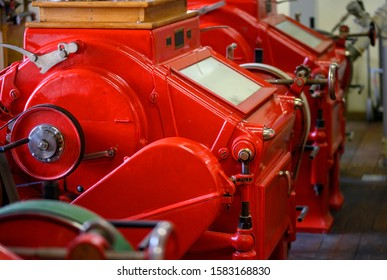 Red roller mills in a corn mill