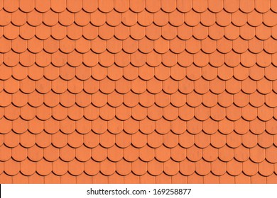 Red roof tile pattern (close up)