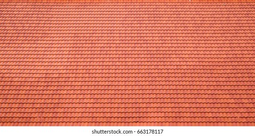 Red Roof tile texture for background.