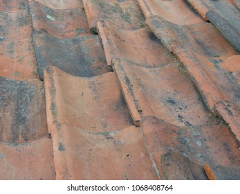 red roof tiles useful a background pattern