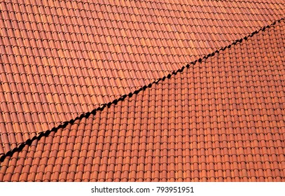 Red roof tiling