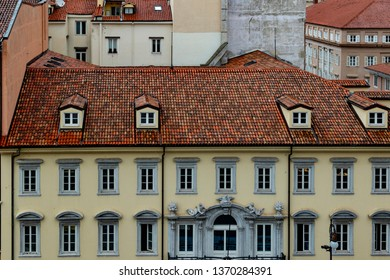 Red roof tops of Trieste Italy