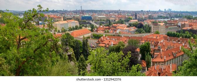 Red Roofline in Praque, Czech Republic