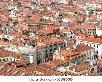 The red roofs of Venice, view from San Marco Campanile
