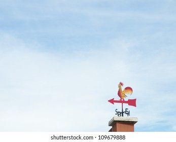 Red Rooster weathervane