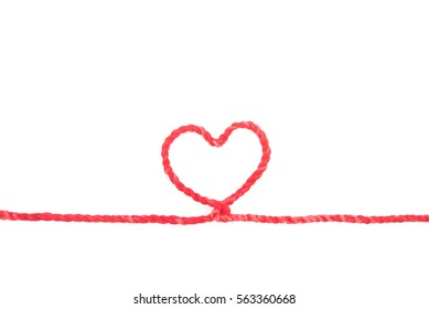 Red rope, red heart.