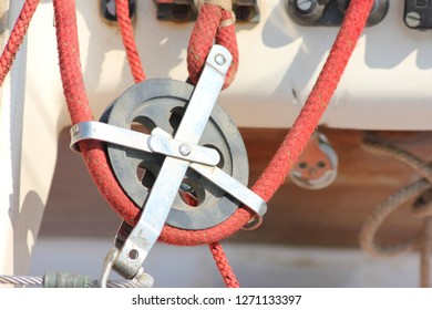 Red rope pully.