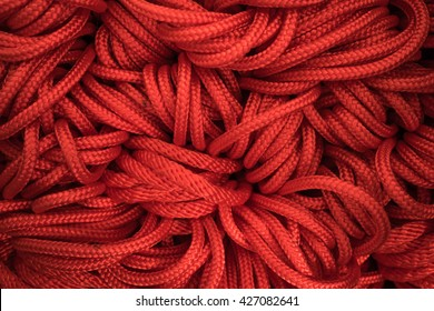 Red ropes for background