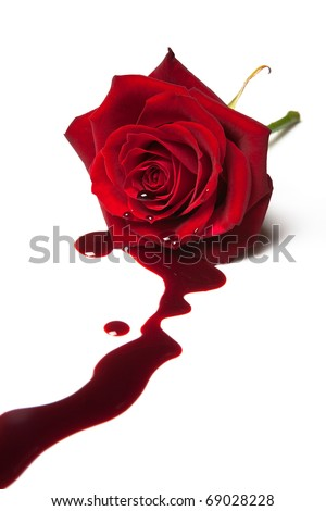 red rose blood flowing out heart stock photo edit now 69028228
