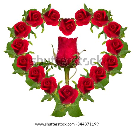 red rose flower bouquet heart shape stock photo edit now 344371199