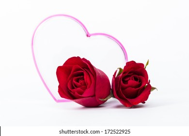 red rose heart and love
