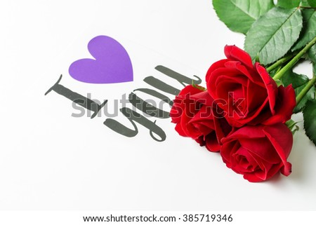 Red Rose Love You Stock Photo Edit Now 385719346 Shutterstock