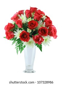 Red roses Arrangement isolated on white background
