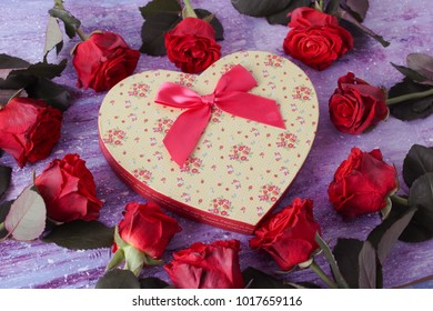 red roses on a wooden background.valentine's day, mother's day