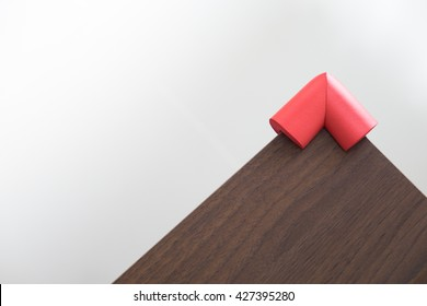 Red rubber, Baby furniture sharp corner protection