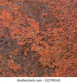 Red Rust Grunge Textured Background