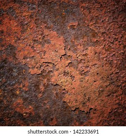 Red Rust Textured Background