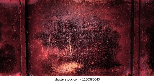 Red Rusty Steel or Metal, Background Texture