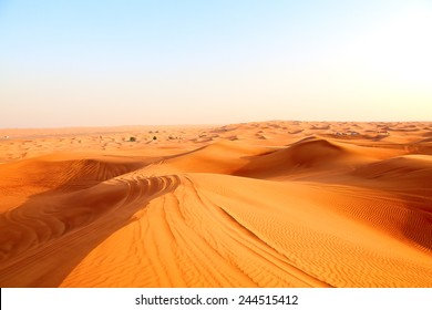 "Red sand ""Arabian desert"" near Dubai, United Arab Emirates"