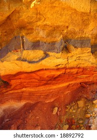 Red sand with iron dike