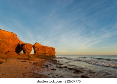 Red Sandstone Cliffs (Green Gables Shore, Prince Edward Island , Canada)