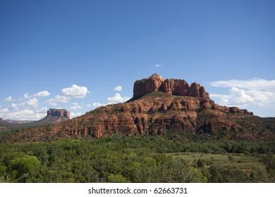 Red sandstone formations in Sedona Arizona