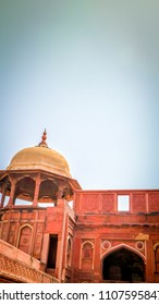 Red Tower of Taj Mahal Complex Images, Stock Photos